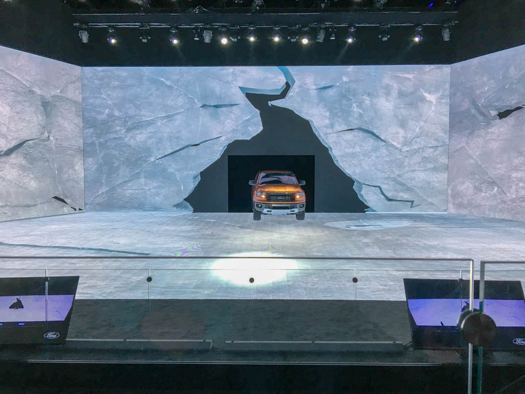 Winter Glacial Landscape Stage Backdrop
