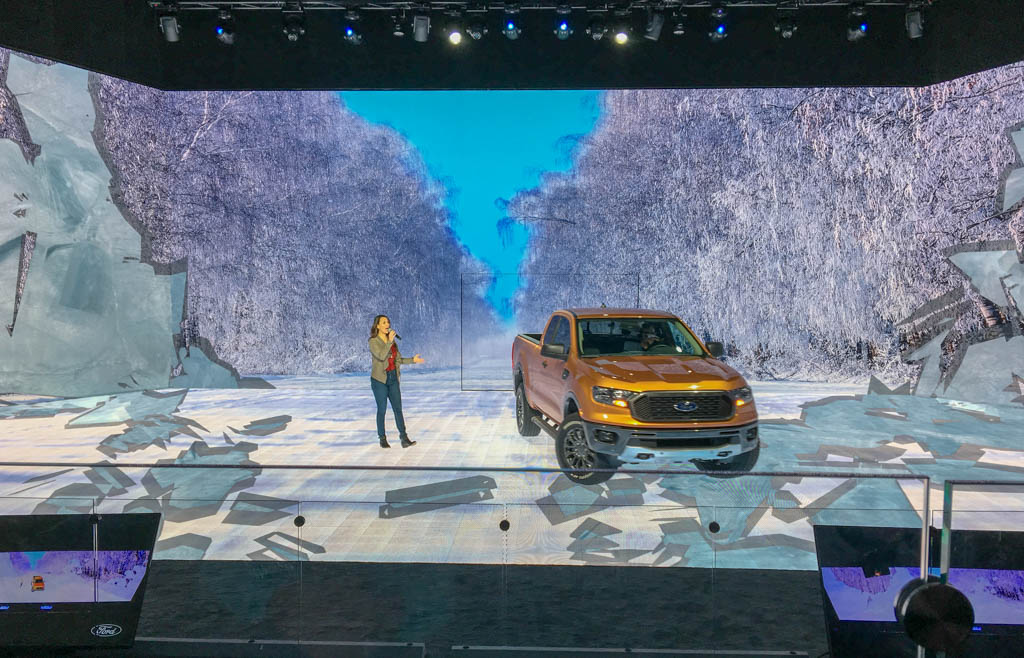 Presenter And Ford Ranger Sharing The Stage