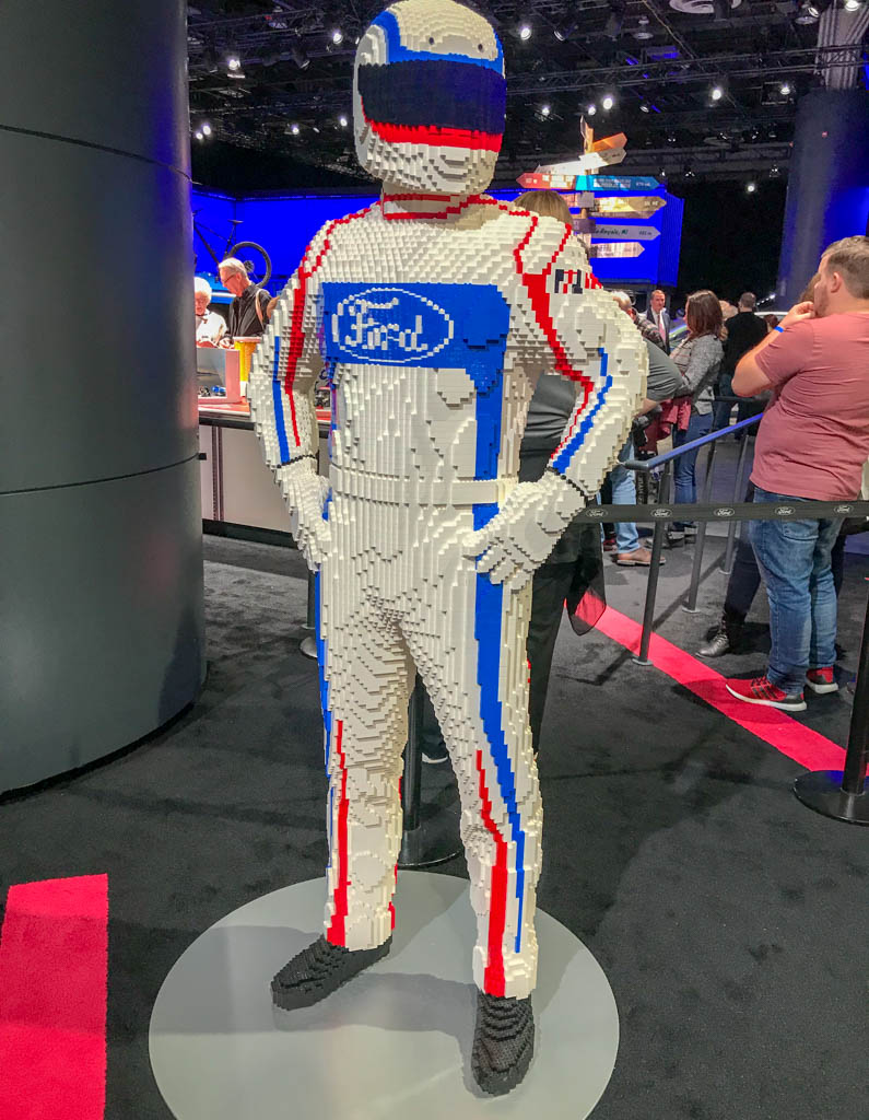 Lego Statue of Ford Racer