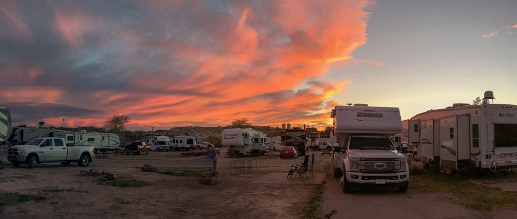 Maverick Ranch RV Park Sunset