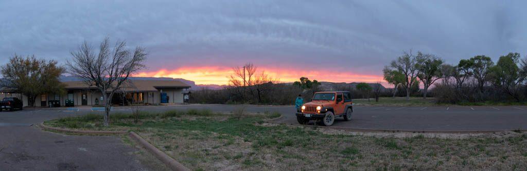 Sunrise Over Rio Grande Village General Store