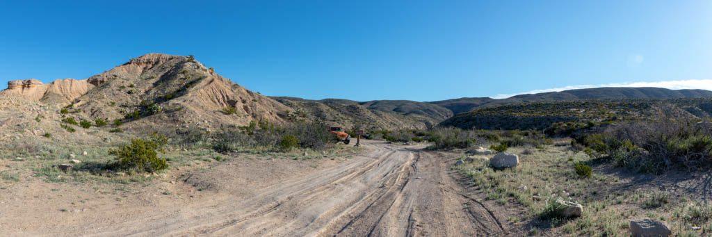 Ernst Tinaja Campsite and Trail Head Area