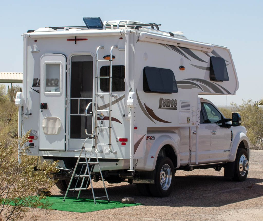Step Ladder Access To Truck Camper