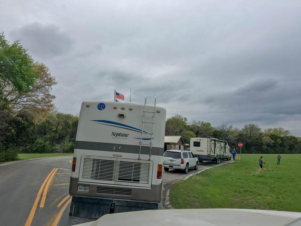 Cleburne State Park Ranger Station Traffic Jam