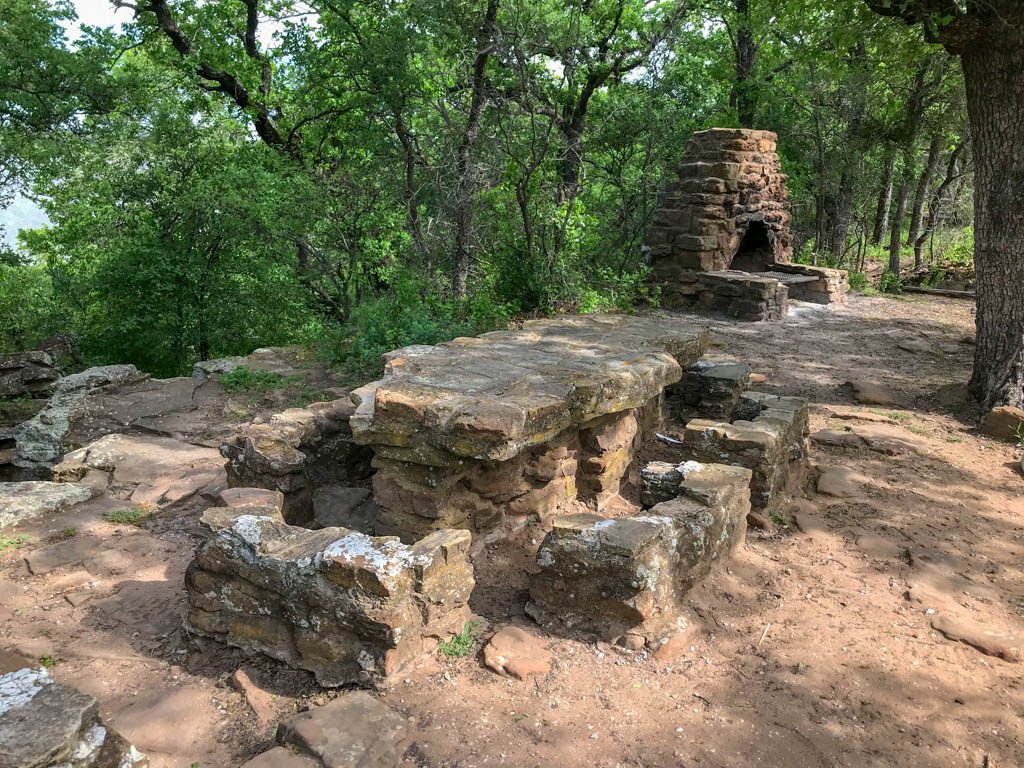 Stone Picnic Tables and Grill