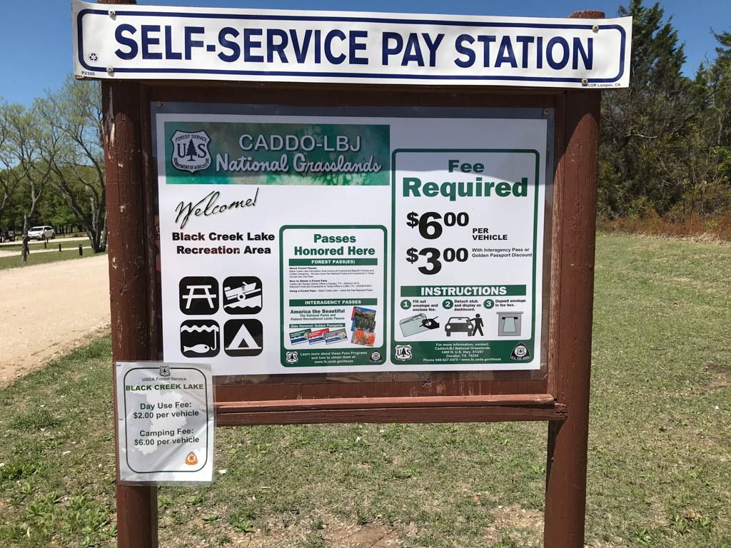 Black Creek Lake Recreation Area Pay Station