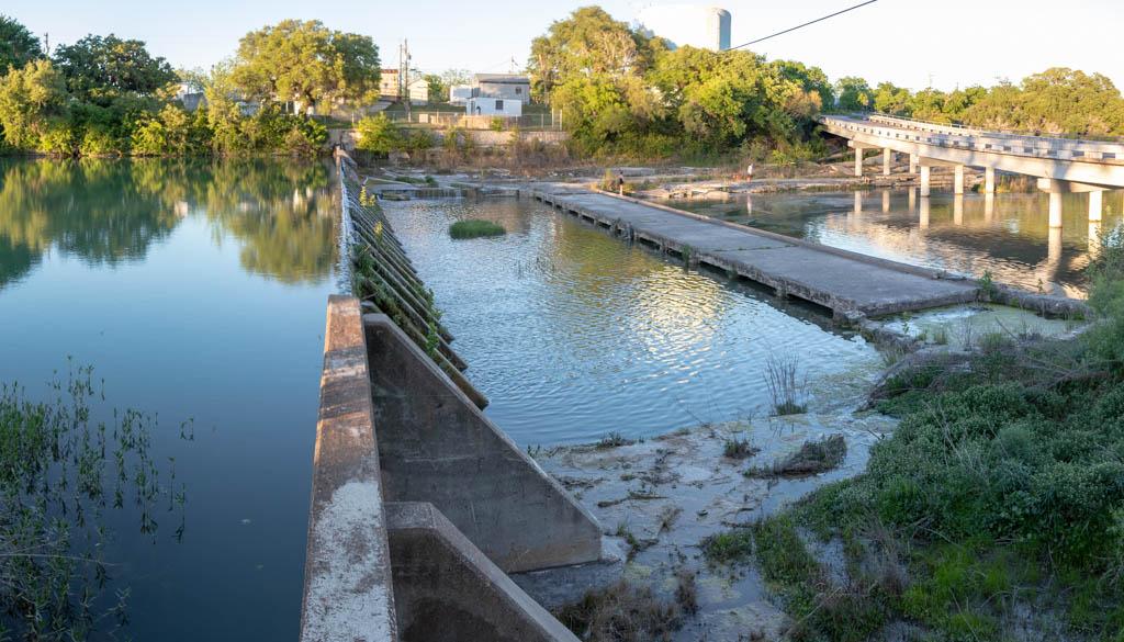 Upriver Blanco River Dam