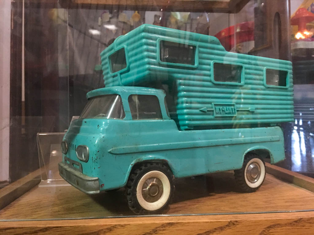 1960's Toy Ford Econoline With Truck Camper
