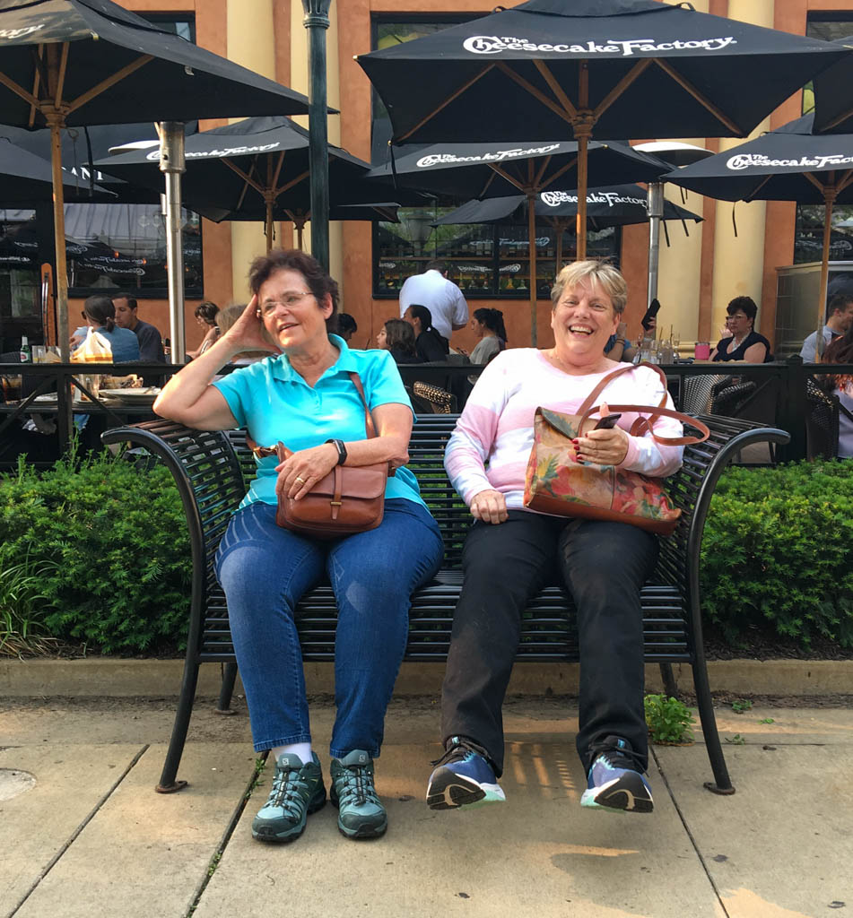 Linda and Sister Beth Waiting For A Table At Cheesecake Factory