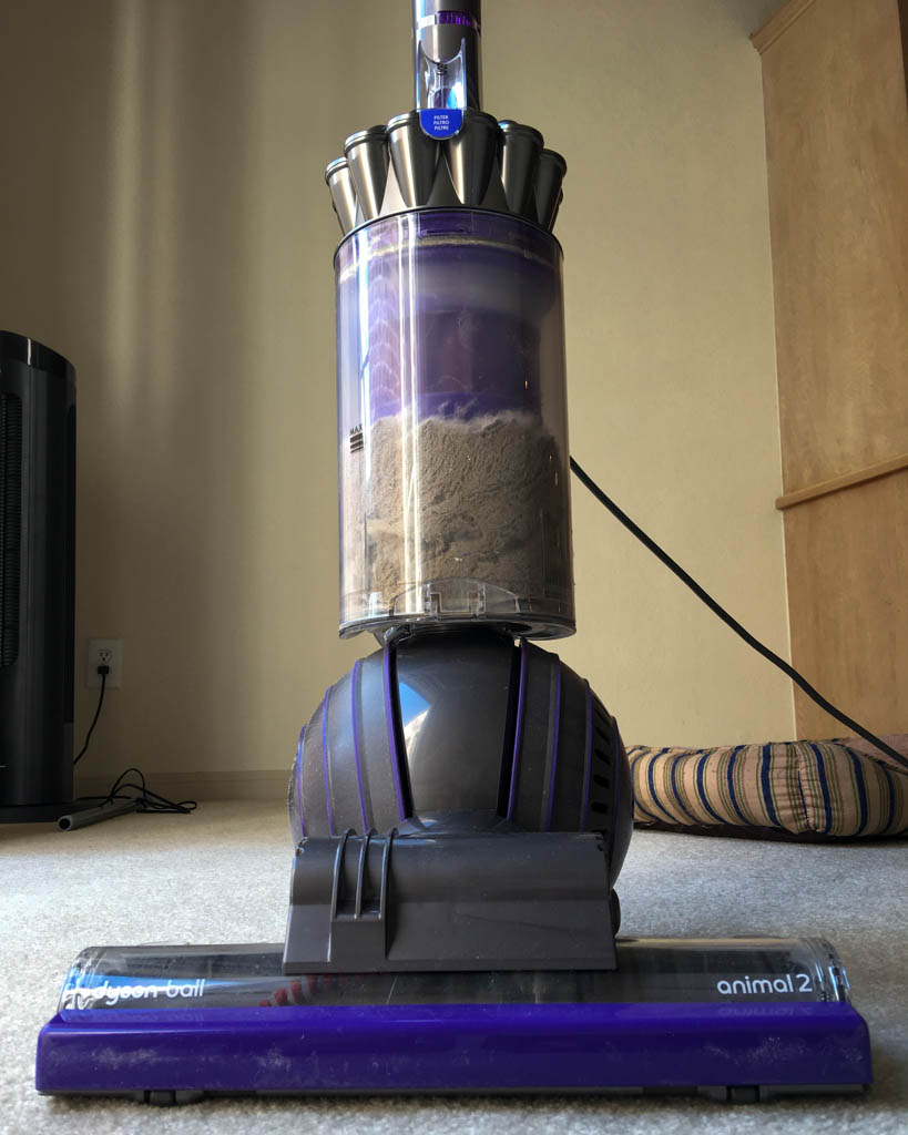 Dyson Animal 2 Upright Vacuum Choked With Dirt