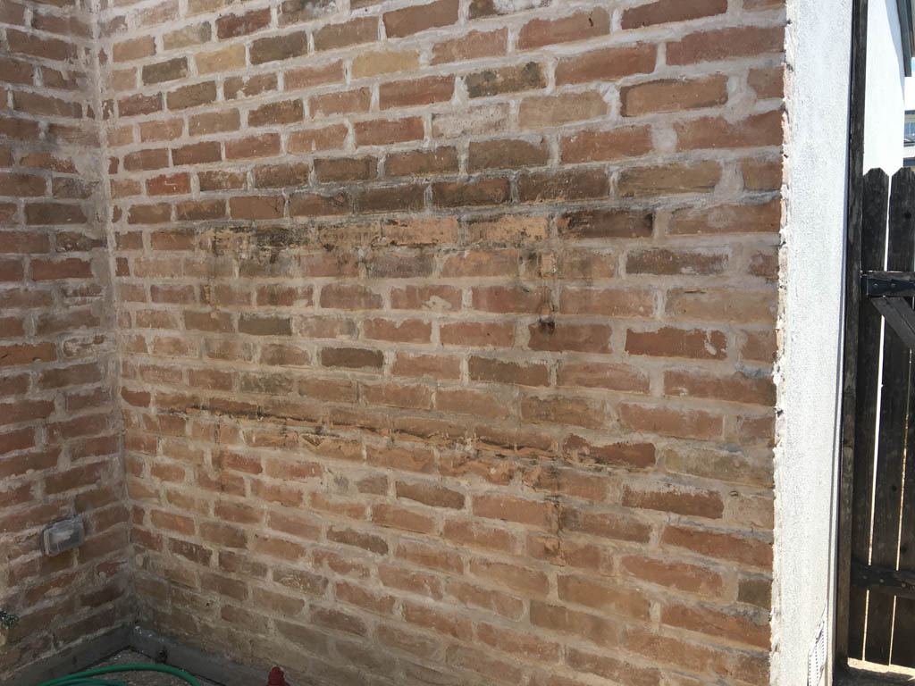 Brick Wall After Repointing