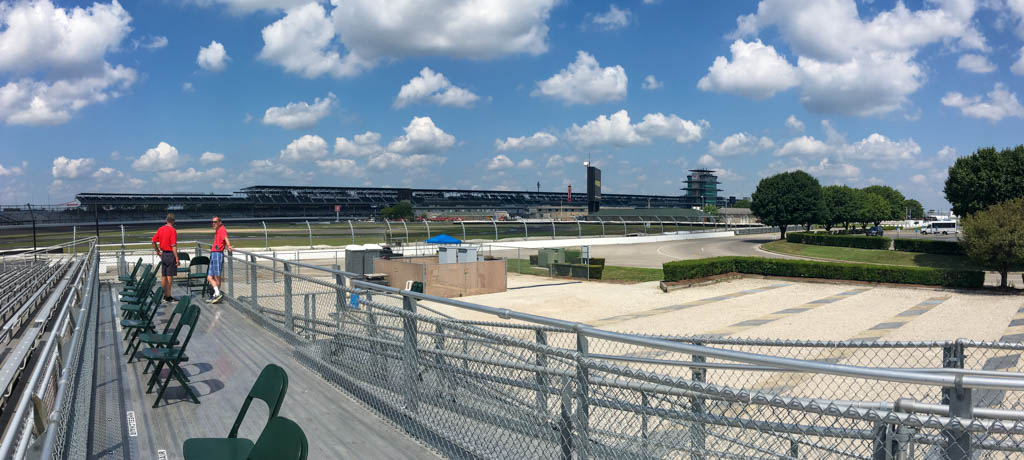 First Turn, Paddock and Finish Line Areas