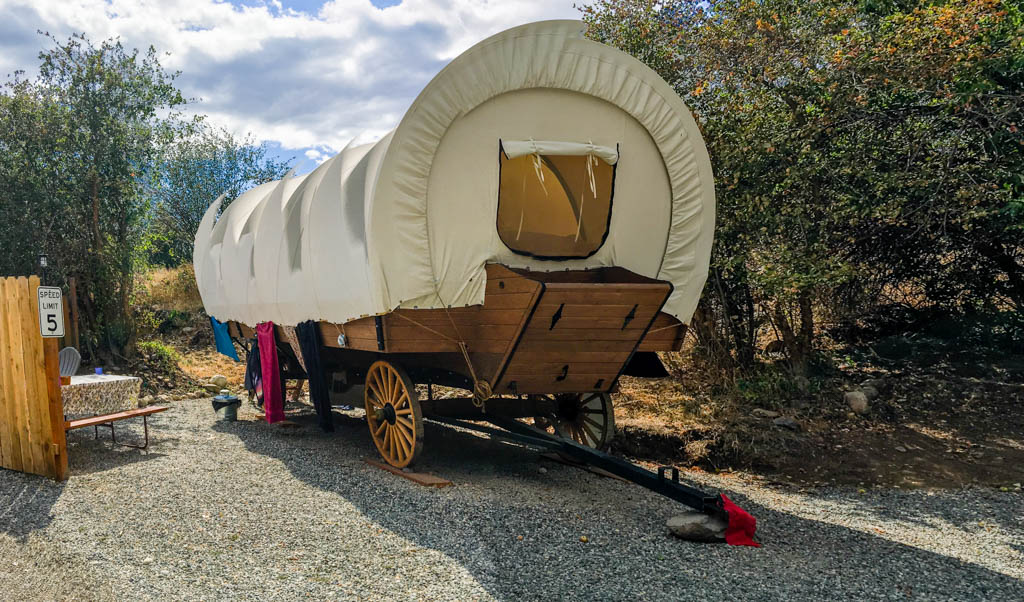 Conestoga Wagon Styled Camping Cabins
