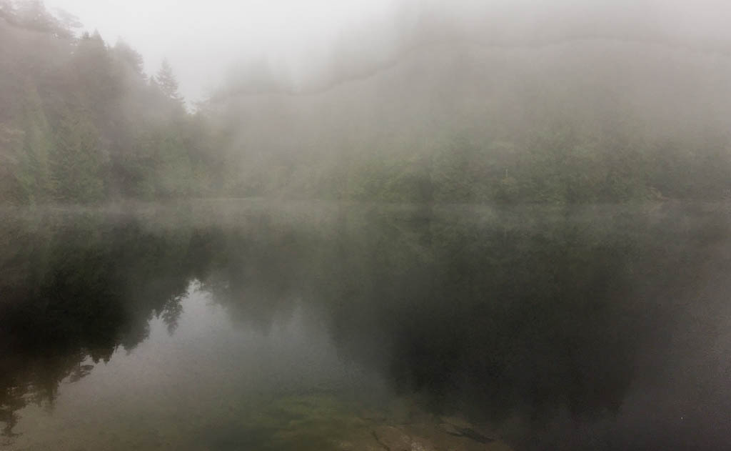 Fragrance Lake Shrouded In Fog