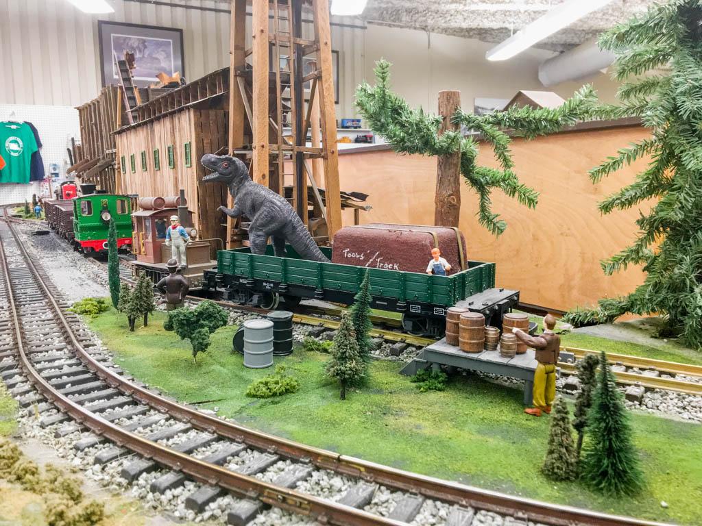 Tyrannosaurus In A Rail Car