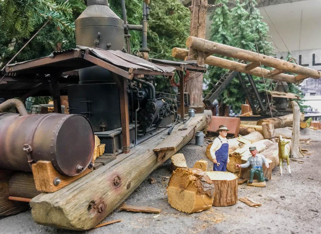 Lumber Camp Scene