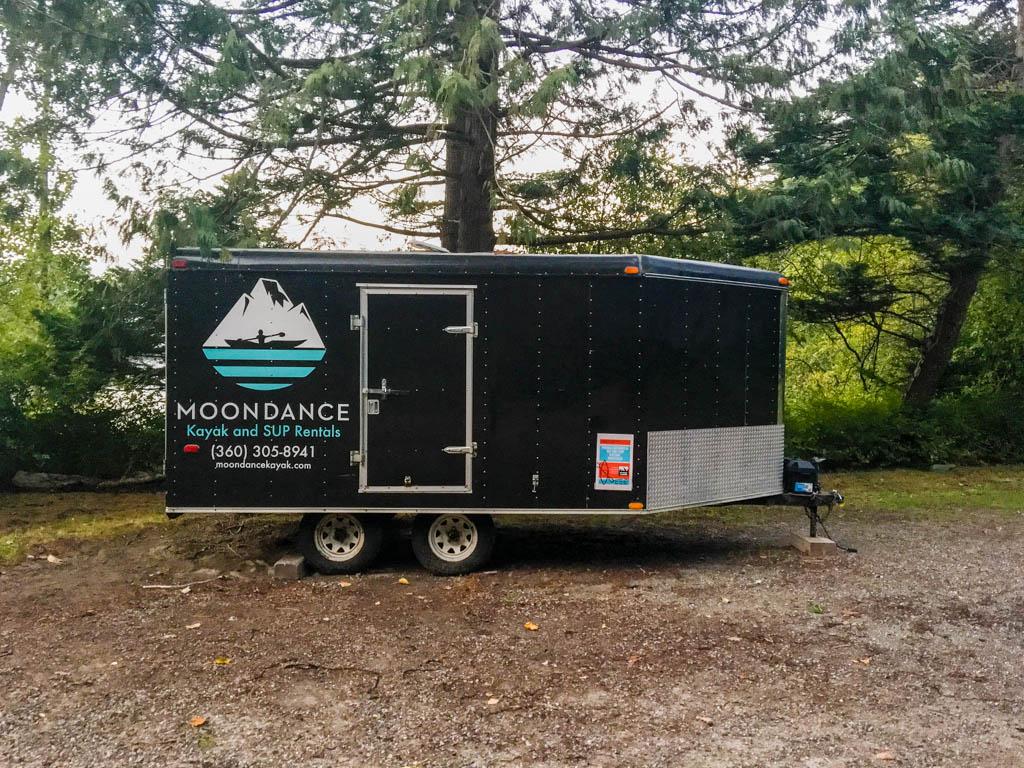Moondance Kayak and SUP Rentals Trailer/Office
