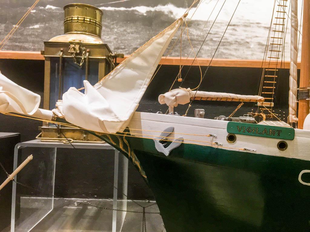 Model Ship Vigilant's Bow