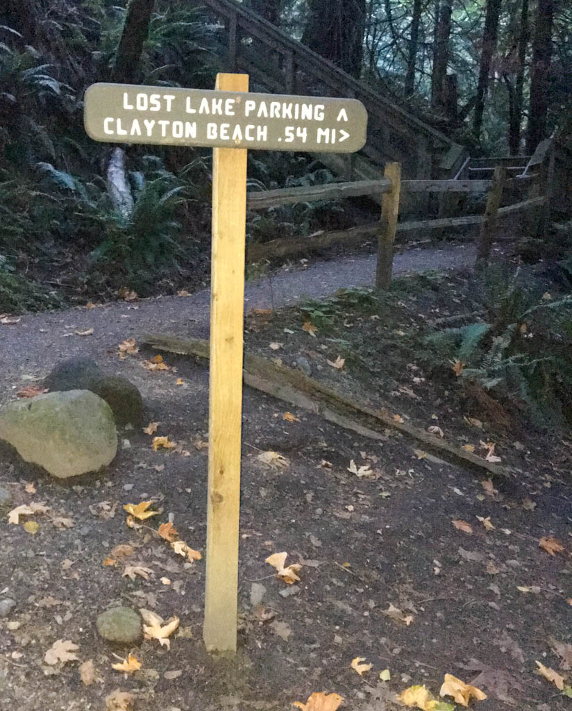 Lost Lake Parking Trail Sign