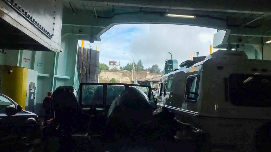 Ferry Docking In Port Townsend