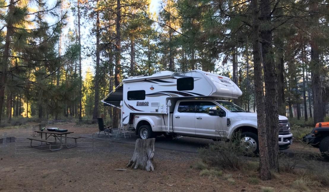 La Pine State Park Campsite