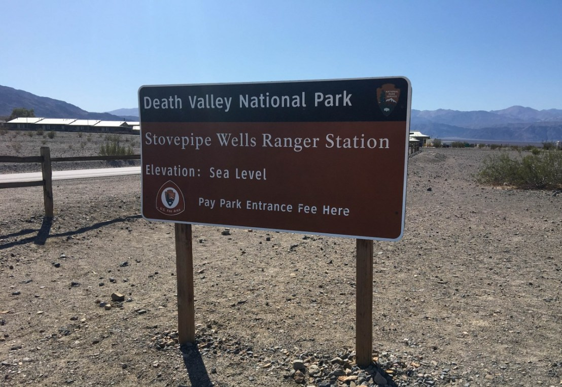 Stovepipe Wells Ranger Station Elevation: Sea Level