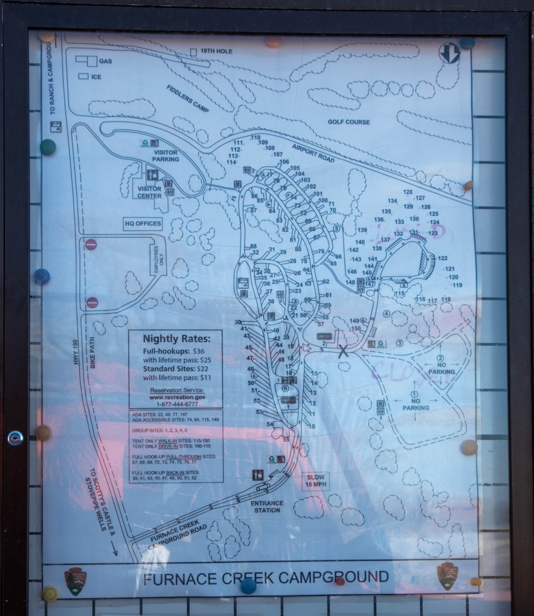 NPS Furnace Creek Campground Map