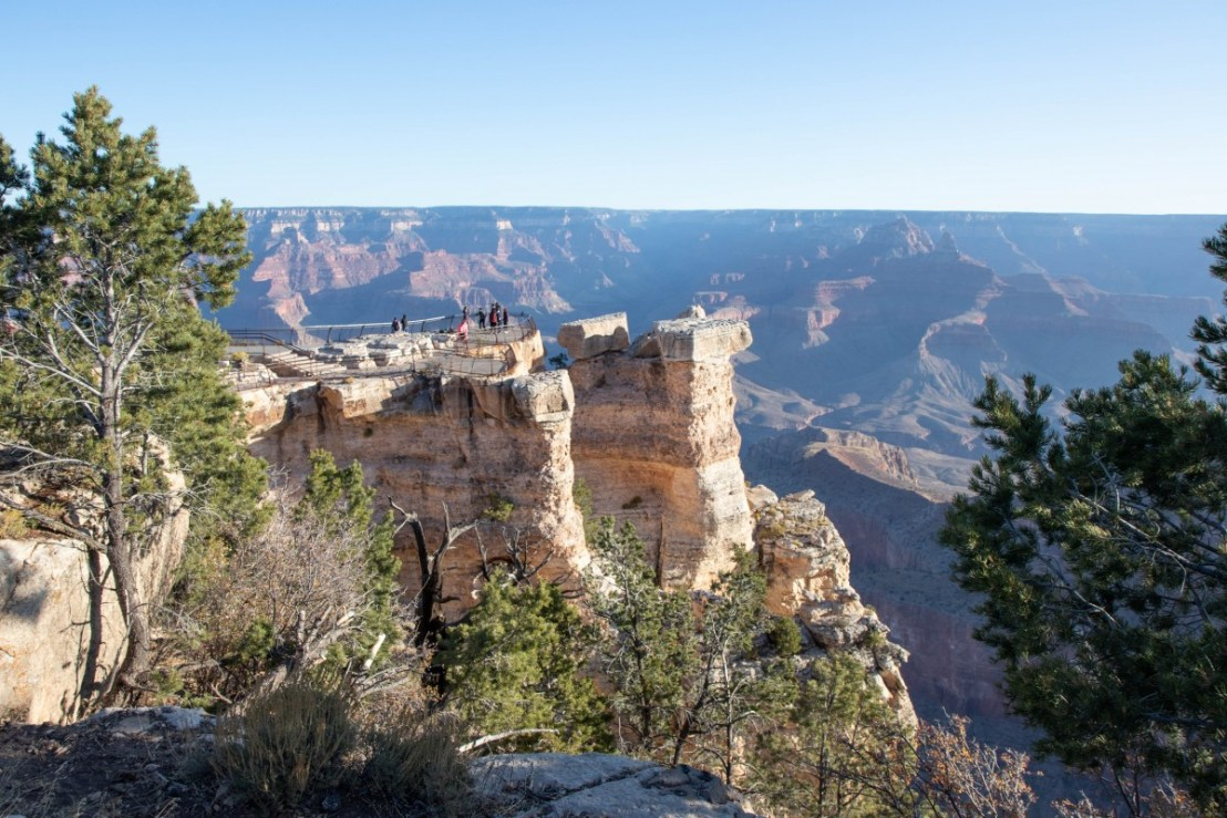 Mather Point As Seen From Rim Trail