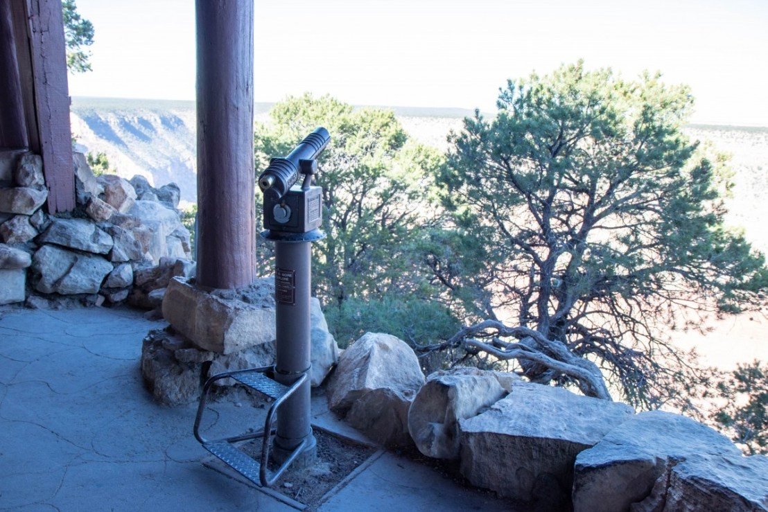 Hermit's Rest Front Porch View and Telescope
