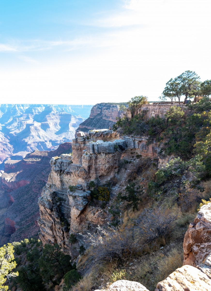 View From Canyon Rim Trail Between El Tovar Hotel and Bright Angel Lodge