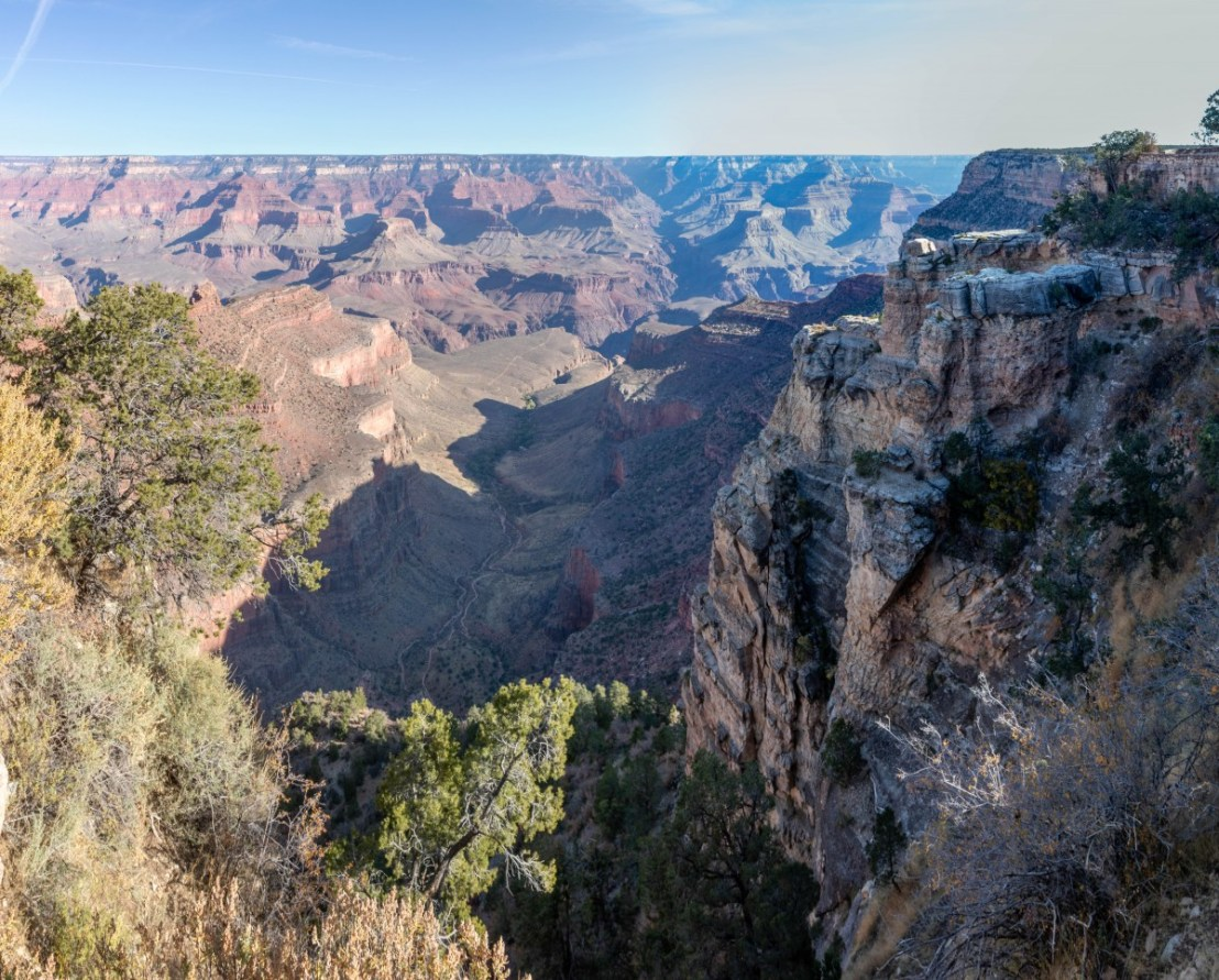Canyon Where Bright Angel Trail Traverses