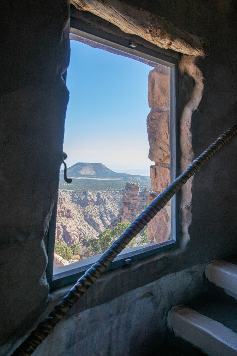Desert View Watchtower Window