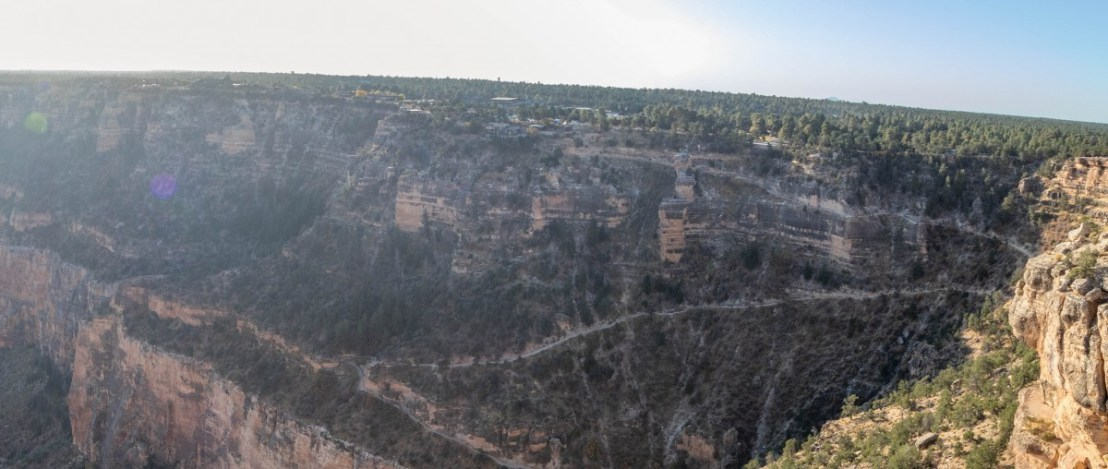 Grand Canyon Village As Seen From Trailview Overlook