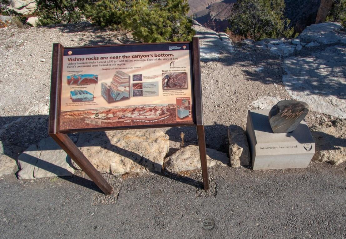 Grand Canyon National Park Display And Rock Sample