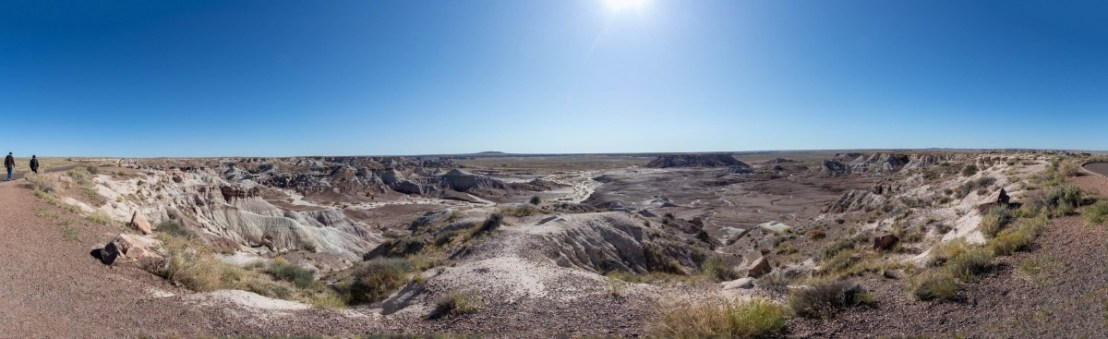 Petrified Forest National Park Blue Mesa 180 Degree Panorama