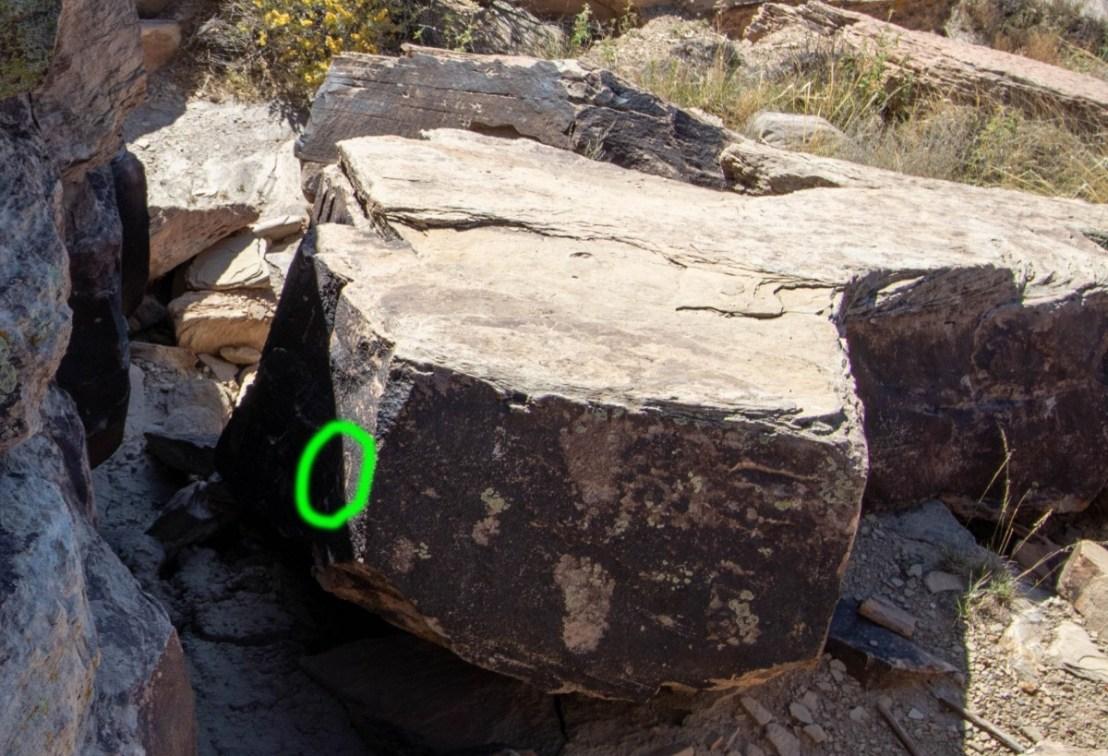 Petrified Forest National Park Puerco Pueblo Solar Marker