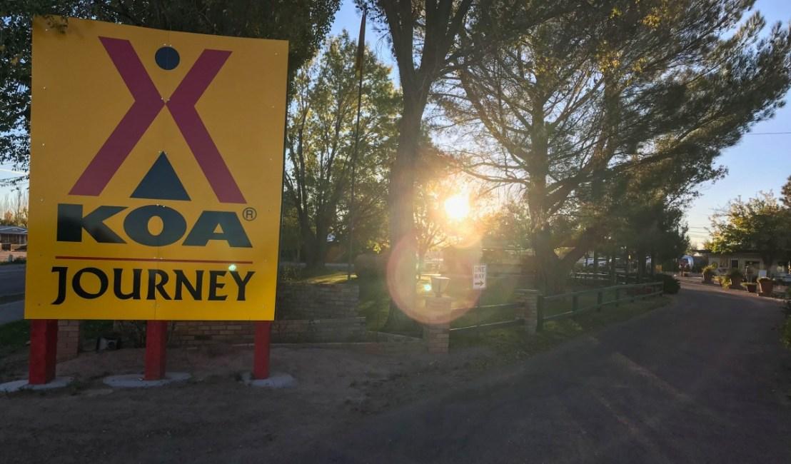 Holbrook KOA Park Entrance