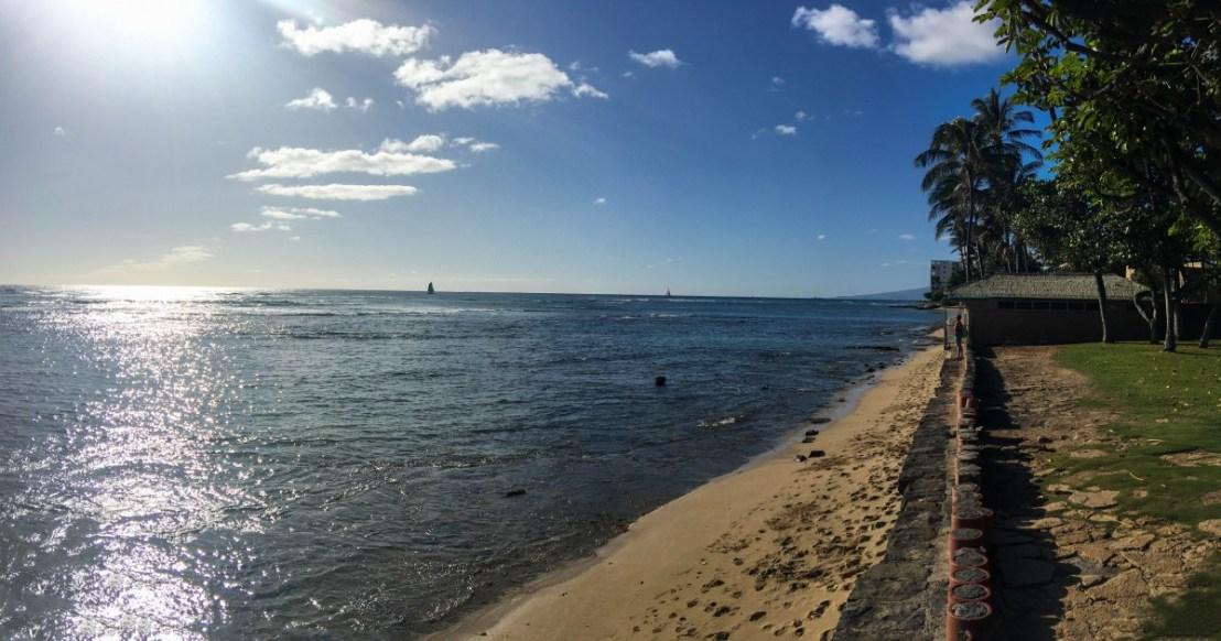 Ocean and Beach View From Leahi Beach Park