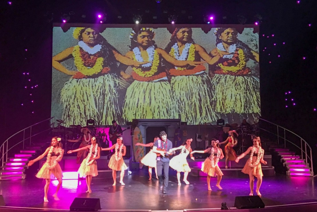 Hawaiian Themed Song And Dance Number
