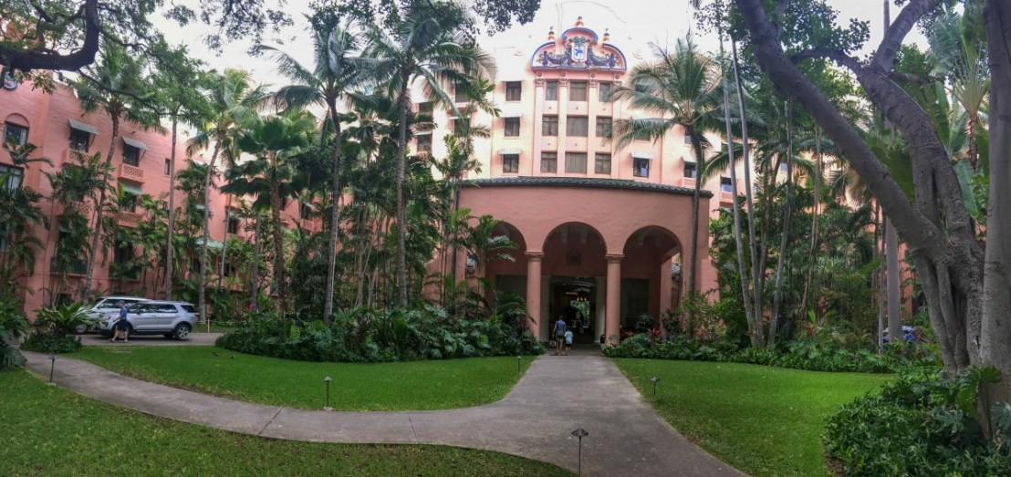 Royal Hawaiian Hotel Entrance