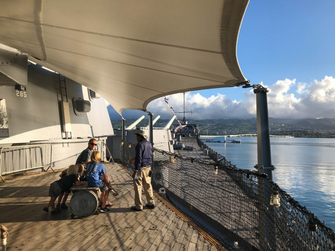 USS Arizona Memorial As Seen From USS Missouri Midships
