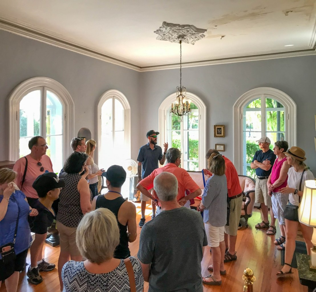 Guided Tour Group In Large First Floor Living Room