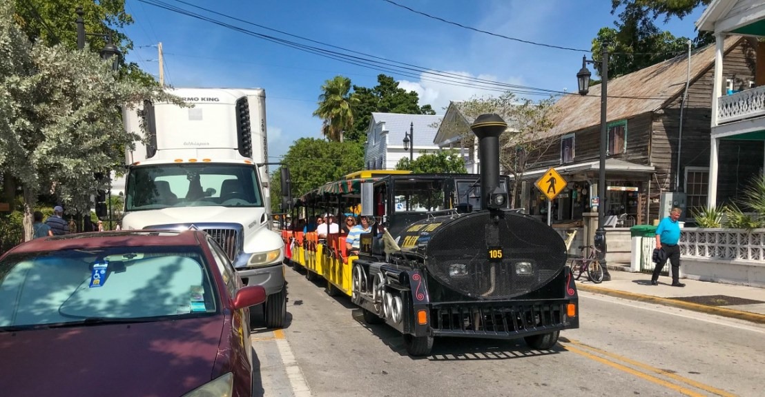Full Conch Tour Train On Whitehead Street