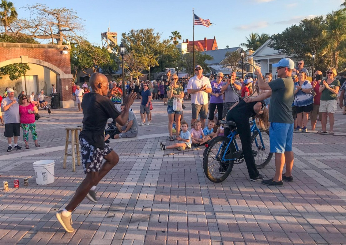 Mallory Square Performer Jumping Through Hoops To Earn A Living
