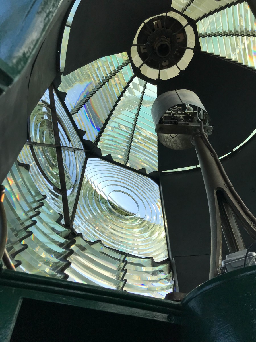 Lighthouse Light and Fresnel Lens
