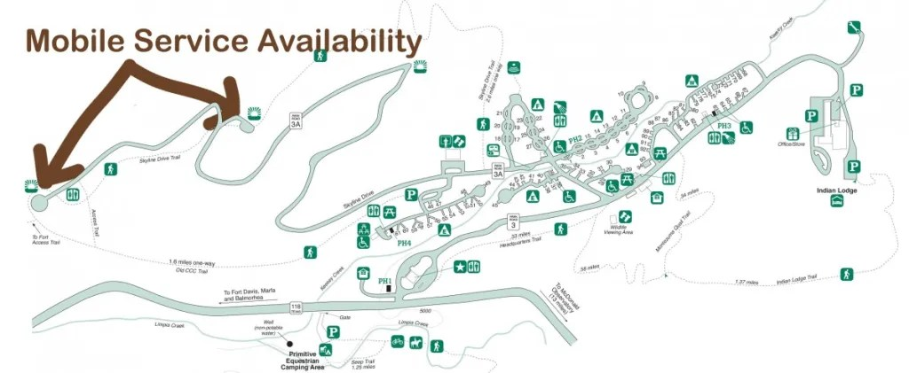 Mobile Service Availability In Davis Mountains State Park