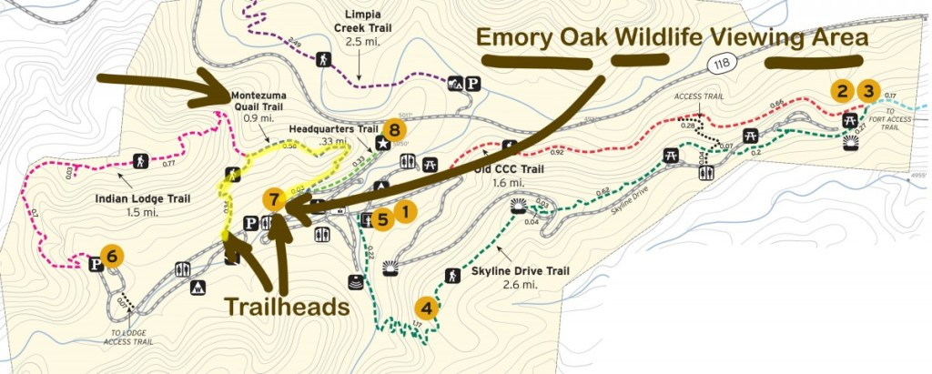 Annotated Davis Mountains State Park Trail Map