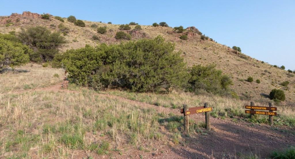Montezuma Quail Trail And Indian Lodge Trail Junction