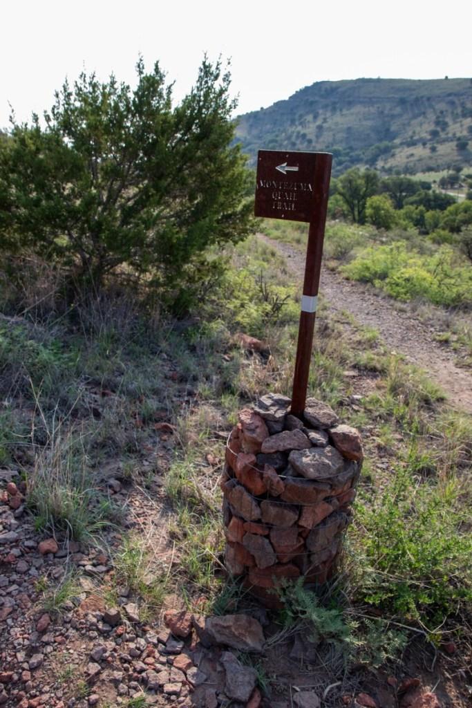 Montezuma Quail Trail And Headquarter Trail Intersection