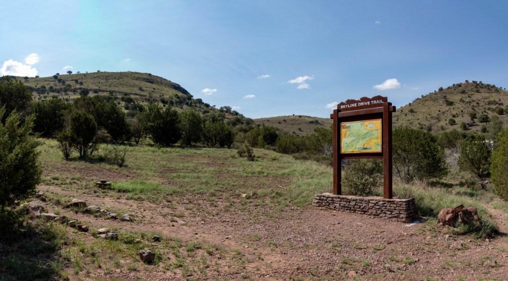 Skyline Drive Trail Trailhead Marker
